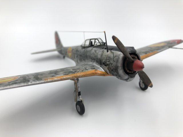 モデルグラフィックスのマガジンキット「一式戦闘機隼一型(キリエ機)」完成画像