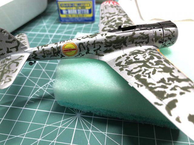 モデルグラフィックスのマガジンキット隼の迷彩塗装