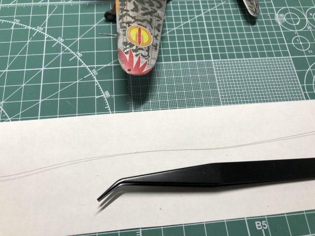 伸ばしランナーで張り線を再現する