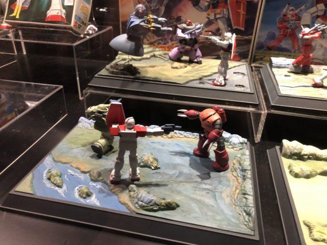 ガンダムワールド2019 in 博多に展示された1/250 ガンダム情景模型